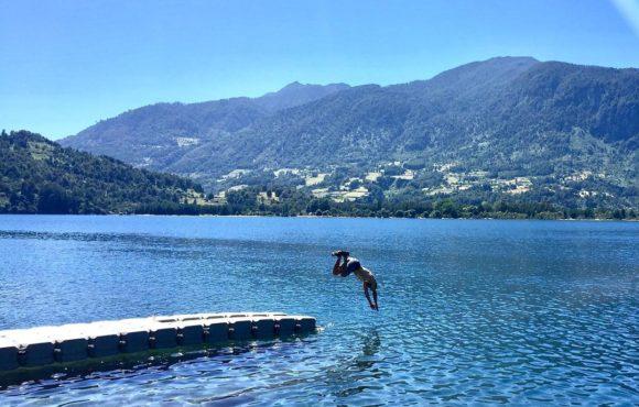 dock salto al agua